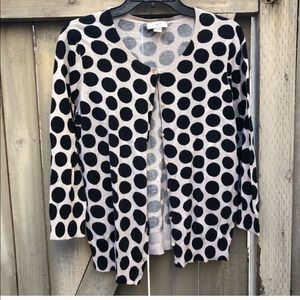 Loft Black Polka Dot Cardigan